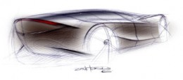 Mazda Nagare design sketch