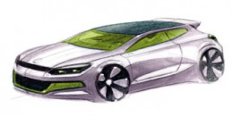 VW Scirocco design sketch