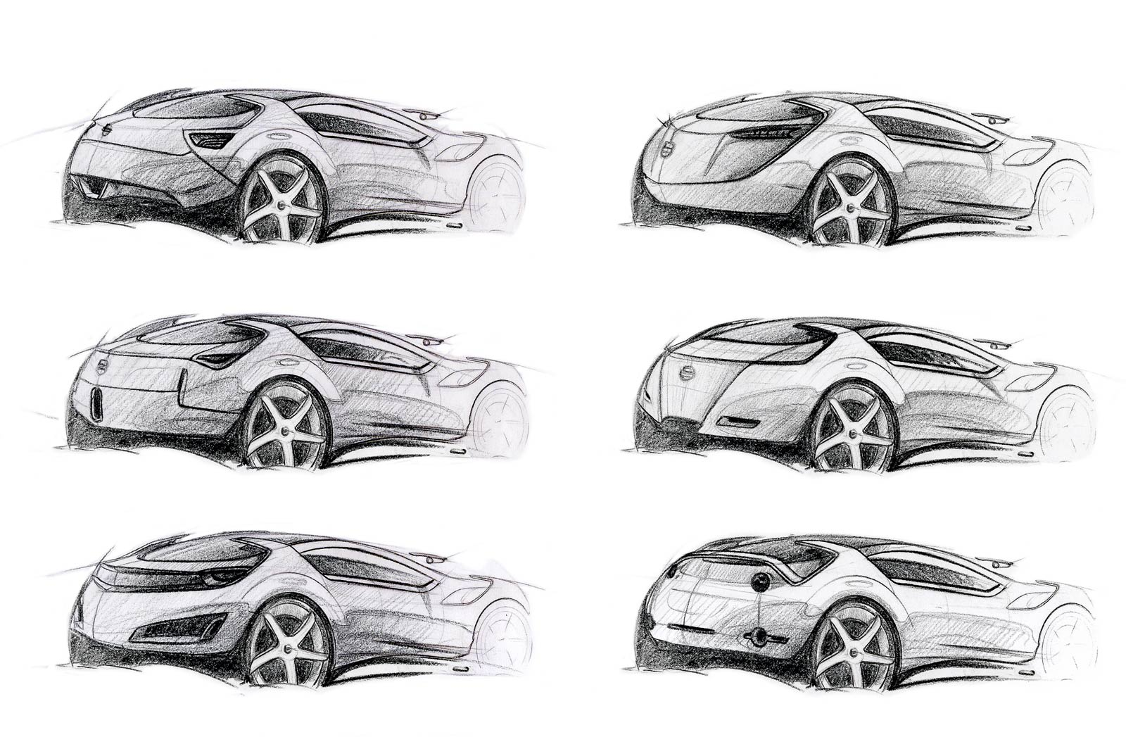 Datsun XLink Design Sketches