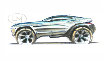 Rally Fighter Concept sketch by Ben Messmer