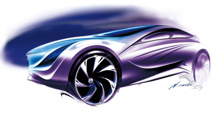 Mazda Kazamai Concept Car Body Design
