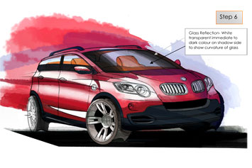 Car rendering in Photoshop