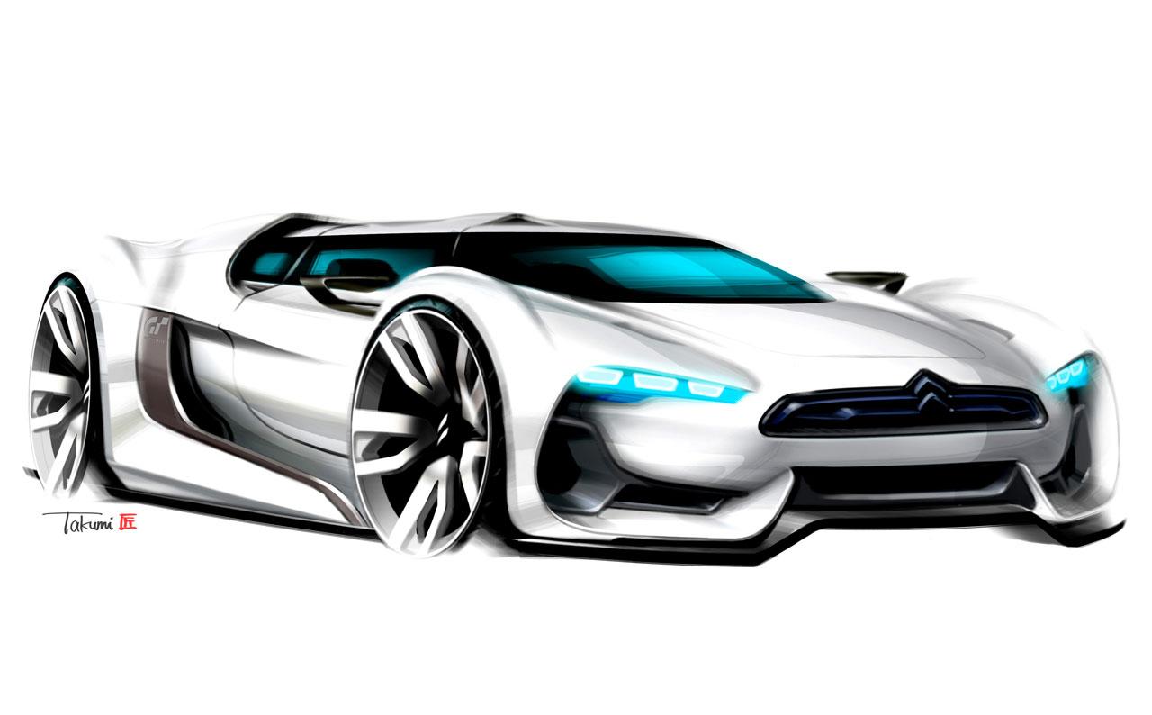 Citroen Gt Concept Design Sketch Car Body Design