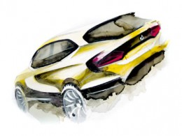 BMW X1 Concept Design Sketch