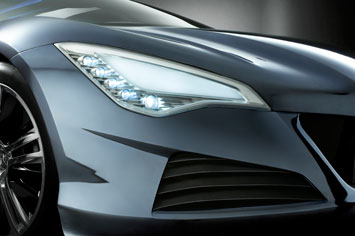 Peugeot RC HYmotion4 Headlight Detail