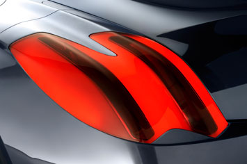 Peugeot RC HYmotion4 Tail Light Detail