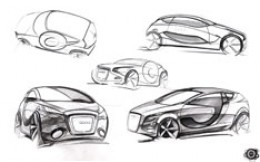 Audi O Concept design sketches