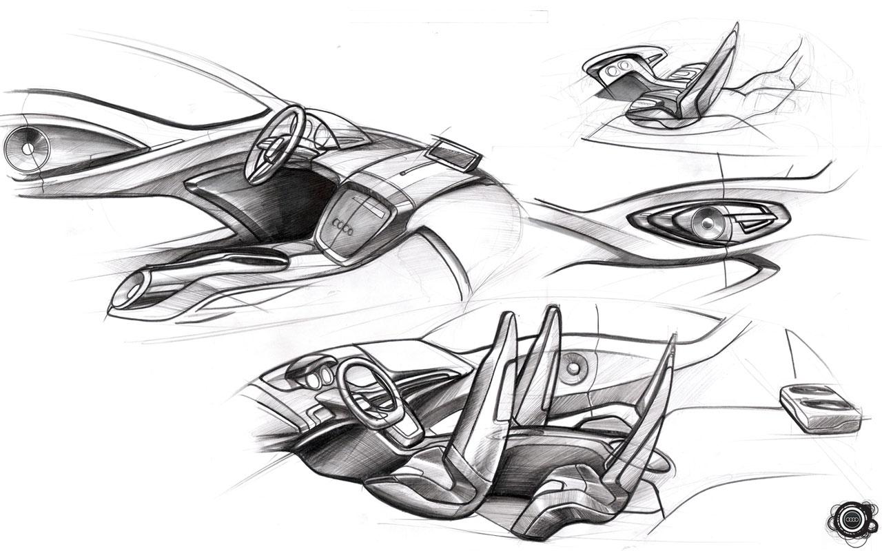 audi o concept design sketches