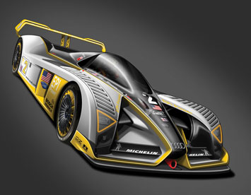 Audi R25 - Design rendering