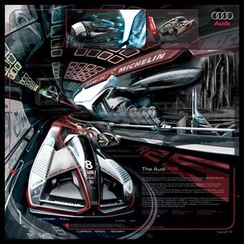 Audi R25 Design Panel