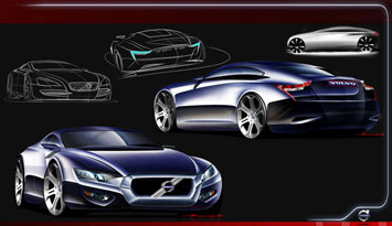 Volvo SC90 Concept - Design Sketches
