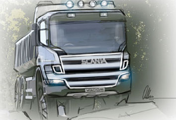 [Inclassable] Le topic des camions Scania-Truck-Design-Sketch