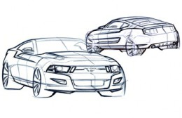 Mustang Shelby Design Sketch