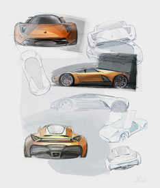 Lamborghini Insecta Design Sketches