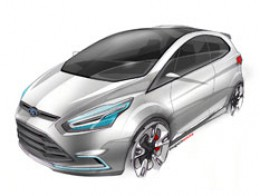 Ford iosis MAX Concept Design Sketch