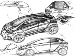 Ford iosis MAX Concept Design Sketches