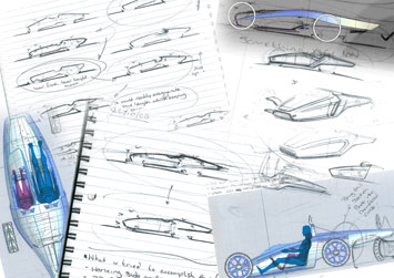 Sunbeam Tiger Concept - Design Sketches