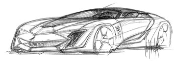 Bertone Mantide Design Sketch