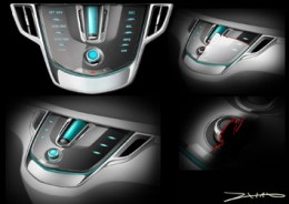 Buick Business Concept Engine Design Sketch
