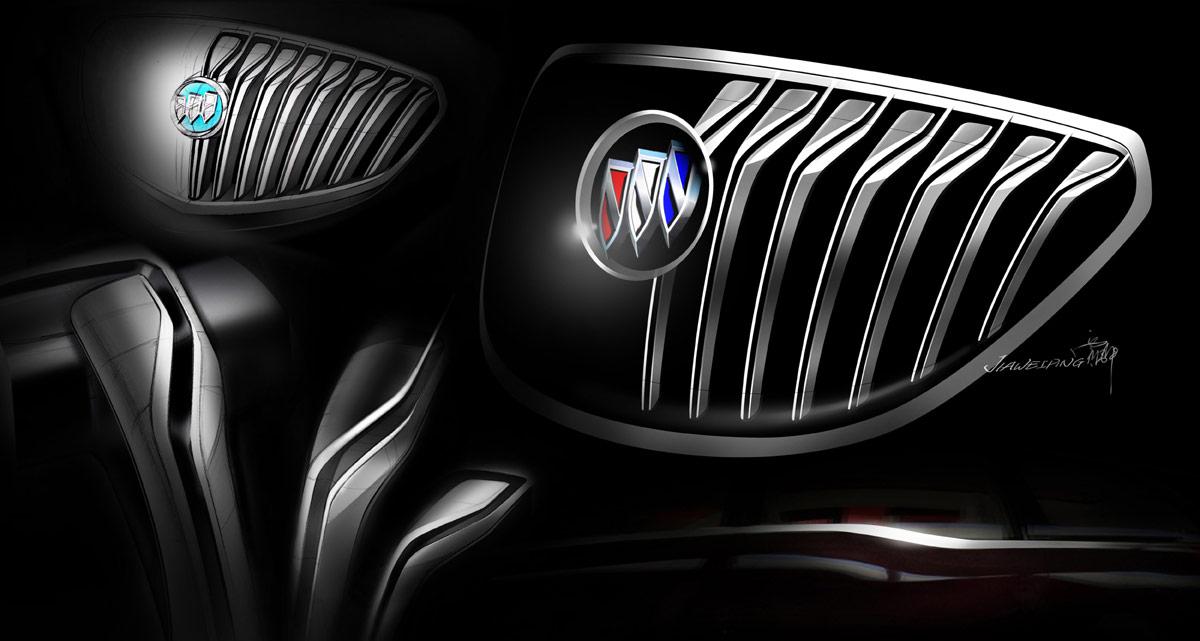 Buick Business Concept Grille Design Sketch Car Body Design