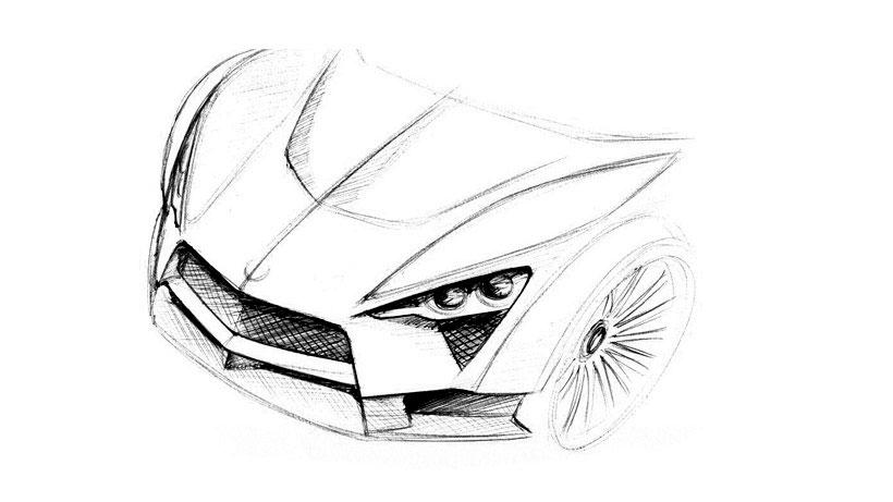超跑设计手绘稿