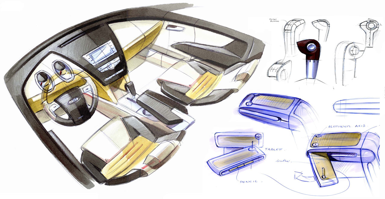 Interior Car Design Sketches Bing Images