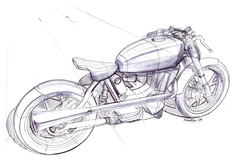 Mac Roarer Rear Sketch Car Body Design
