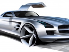 Mercedes-Benz SLS AMG with electric drive