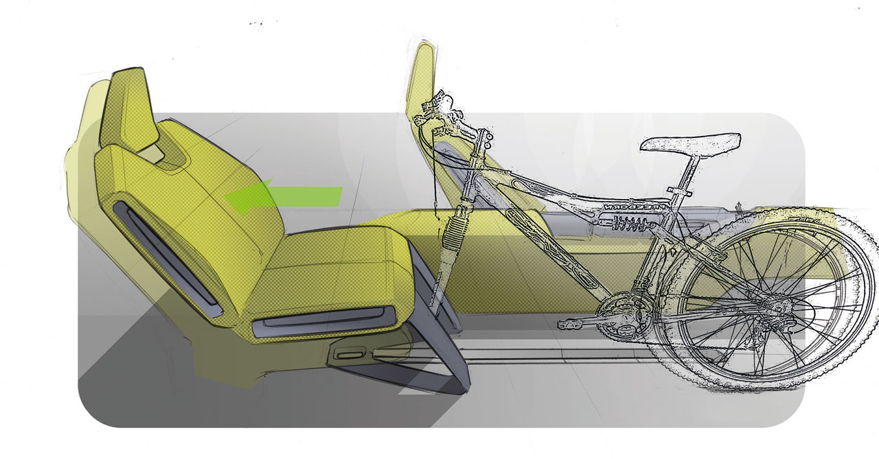 VW E Up! Concept Interior Design Sketch