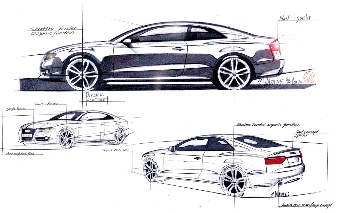 Audi a5 wins germany s design award car body design for Exterior car design