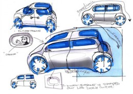 Nissan Cube Design Sketches