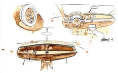 Bugatti 16C Galibier Concept Interior Design Sketch