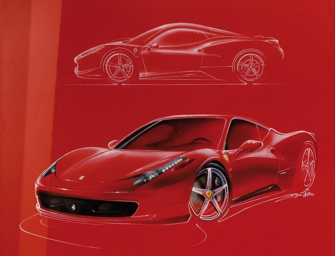Ferrari Getto Concept Design Sketches - Car Body Design |Ferrari Design Sketches