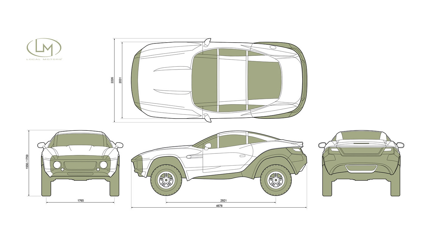 Rally Fighter Dimensions Car Body Design