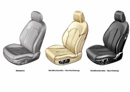 Audi A8 Seats Design Sketches