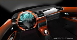 Citroen C3 Interior Design Sketch