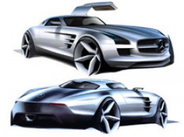 Mercedes-Benz SLS AMG Design Sketch