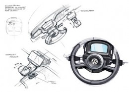 VW Up! Lite Interior Design Sketches