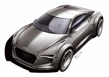 Audi E Tron Detroit Concept Sketch