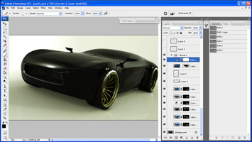 Automotive Rendering Techniques Screenshot