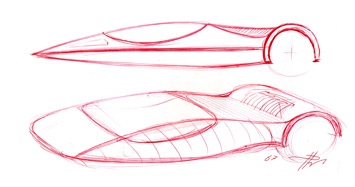 Ferrari Enzo Modulo Sketch
