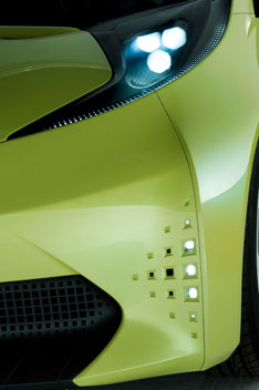 Toyota FT-CH Concept Headlight Detail