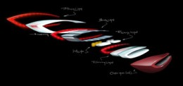 Mercedes-Benz F800 Style Tail Light Exploded Design Sketch