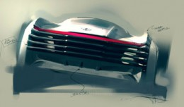 Bentley Design Sketch by Marten Wallgren