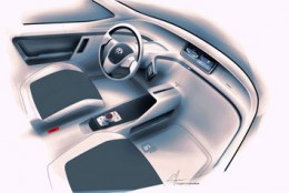 Volkswagen In Concept Interior Design Sketch