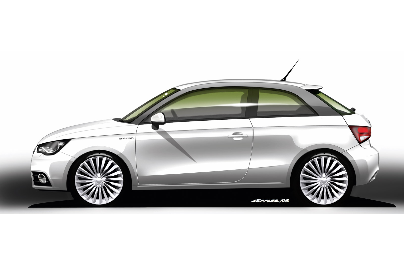audi a1 e tron design sketch car body design. Black Bedroom Furniture Sets. Home Design Ideas