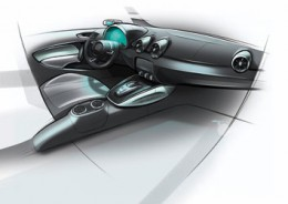 Audi A1 e tron interior design sketch
