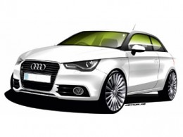 Audi A1 e tron design sketch