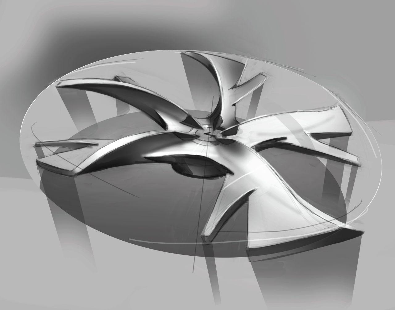 Hyundai I Flow Concept Wheel Design Sketch Car Body Design