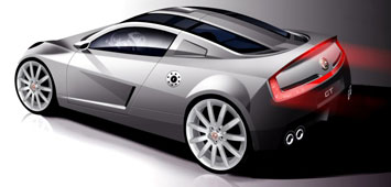 MG Coupe Design Sketch